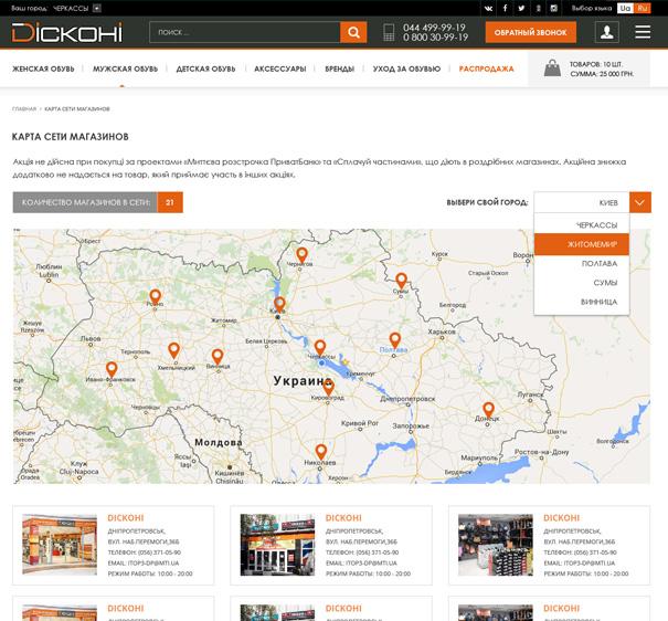 Создание адаптивного дизайна интернет-магазина Киев