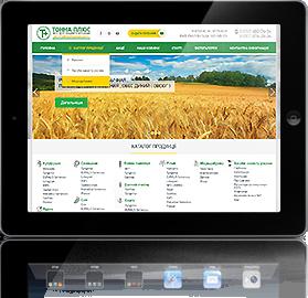 Создание корпоративного сайта по продаже удобрениями Тонна плюс